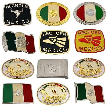 Amazon Mexico Belt Buckle 12 Pieces Wholesale Lot Hecho En