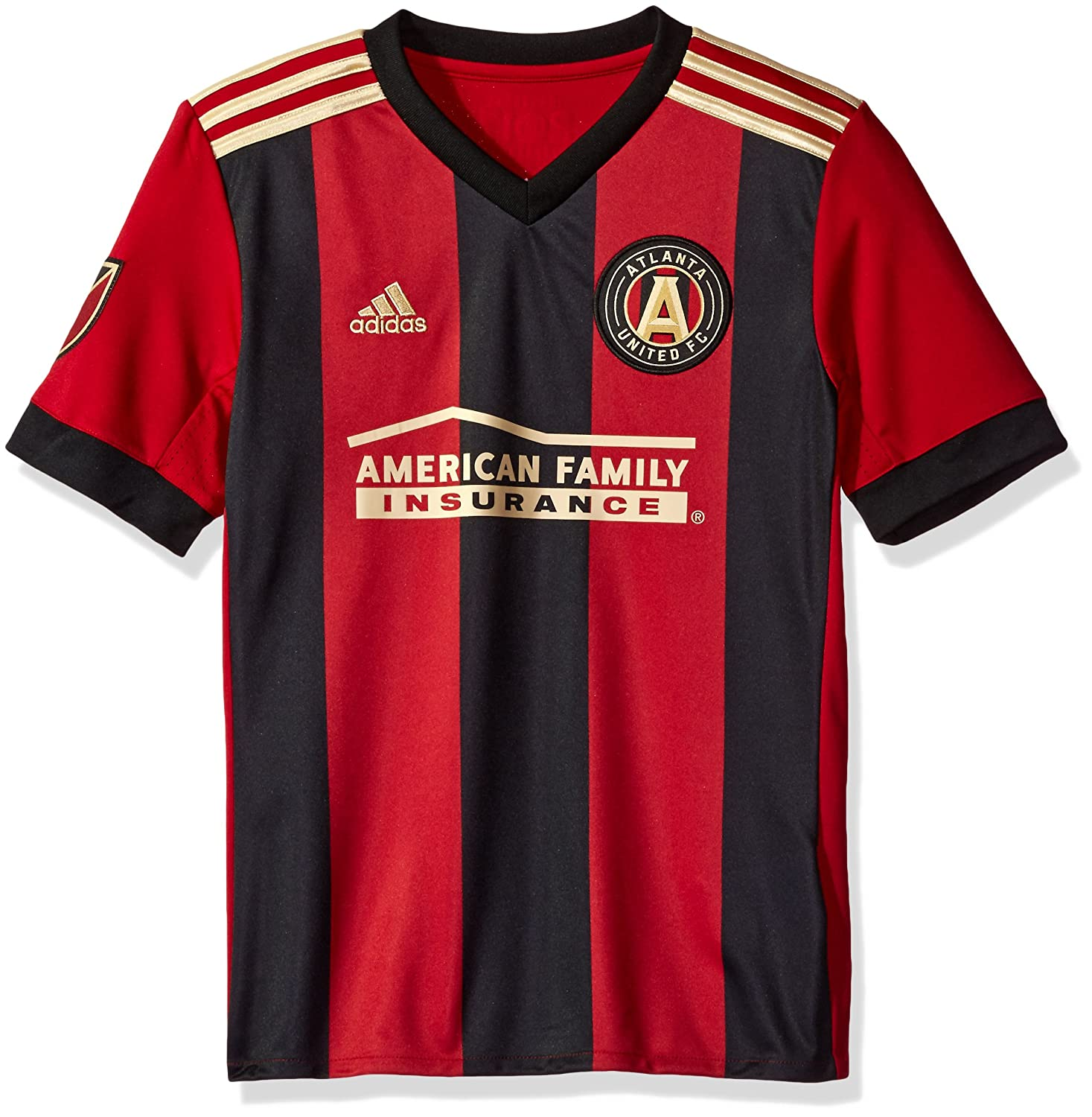 low priced 1dee0 a26cf adidas Youth Atlanta United FC Soccer Jersey Home Replica