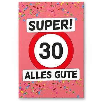 Dankedir 30 Alles Gute Kunststoff Schild Rosa Geschenk 30