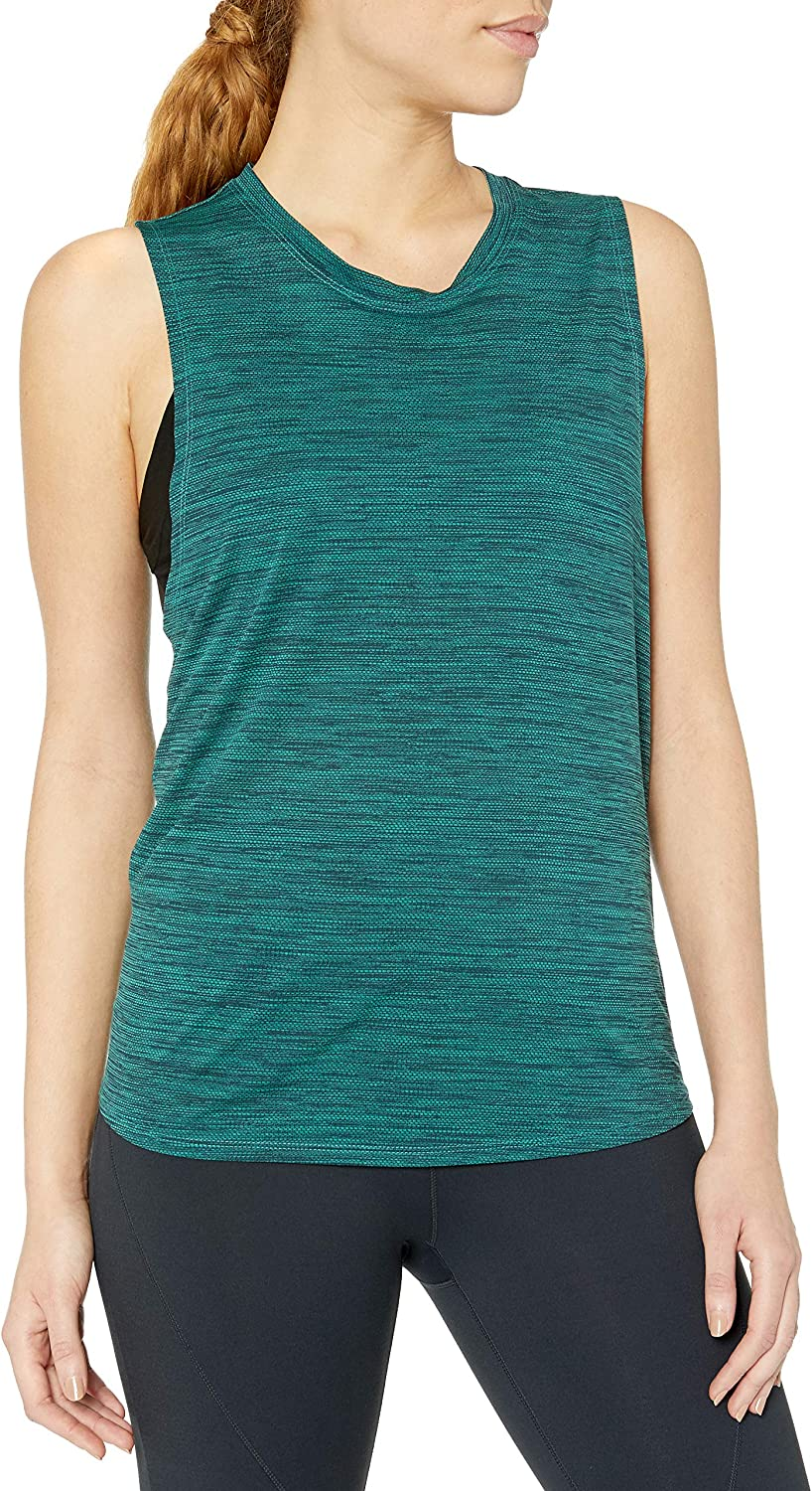 Core 10 Women's Standard Jacquard Mesh Muscle Sleeveless Tank