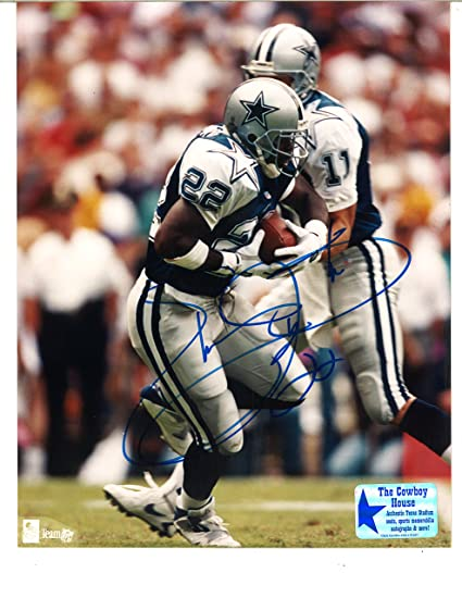 8bd93785f Dallas Cowboys  22 Emmitt Smith Autographed Signed 8 x 10 Photograph (The  Cowboy House COA) at Amazon s Sports Collectibles Store