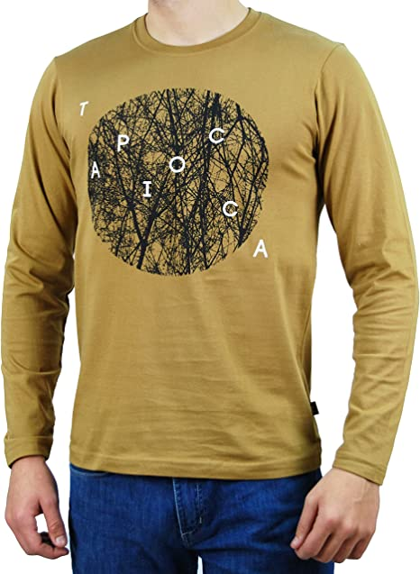 Coronel Tapioca - Camiseta de Manga Larga Círculo para Hombre ...