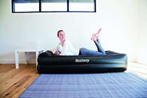 Aufgebautes Premium Plus Single Luftbett von Bestway