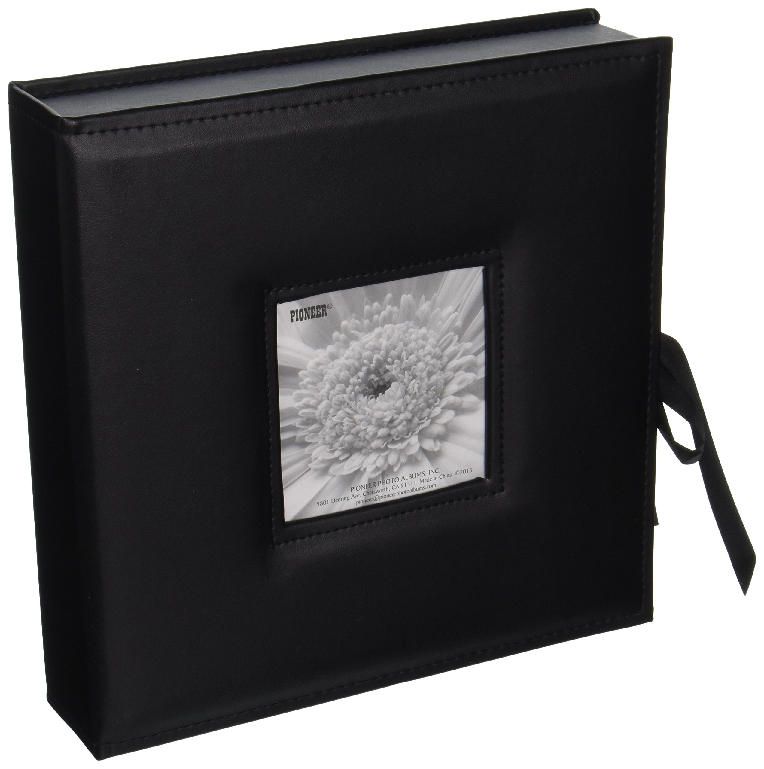Pioneer Photo Albums 120-Pocket 3-Ring Sewn Leatherette Frame Cover Photo Box for 4 by 6-Inch/5 by 7-Inch/6 by 8-Inch Prints, Black