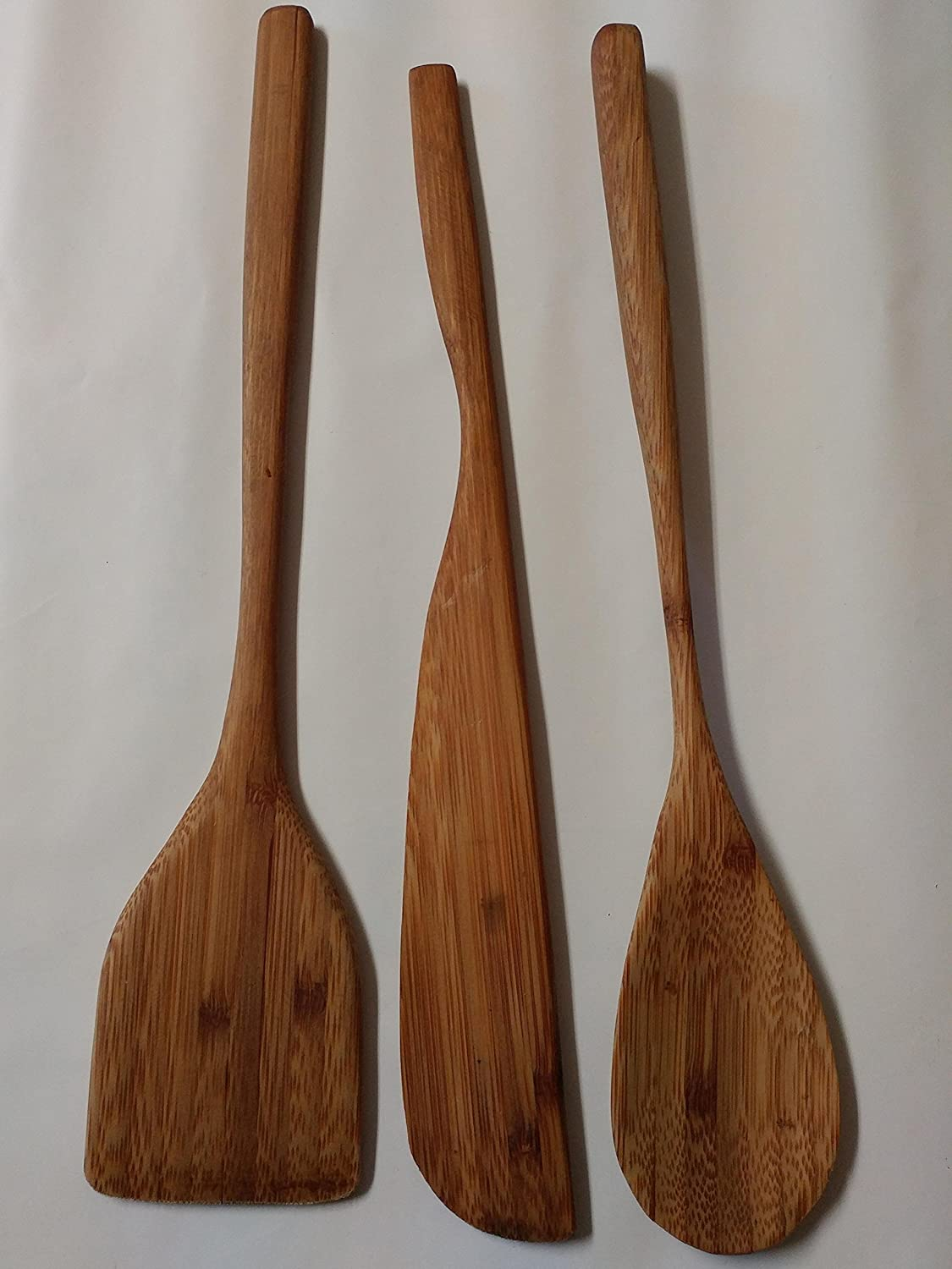 Handcarved Bamboo Utensils Set of 3
