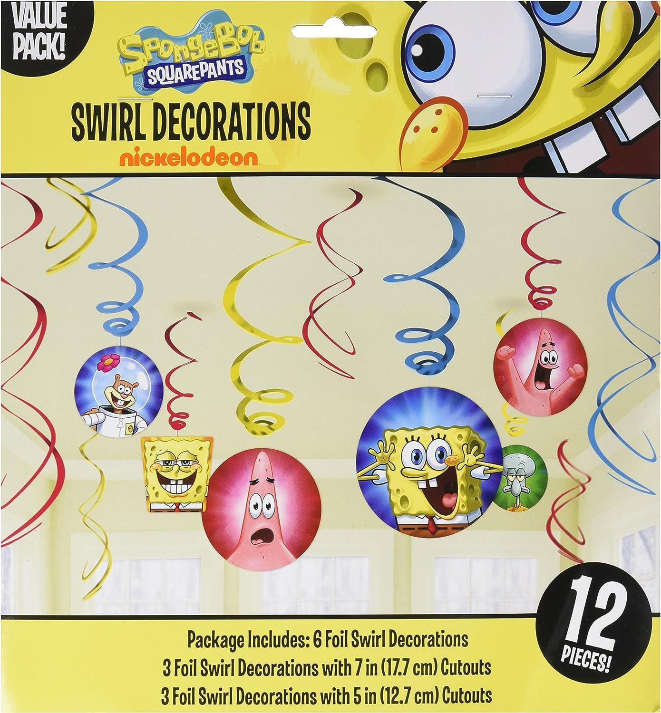 Amazon.com: Amscan Silly Bob Esponja Party Foil decoraciones ...