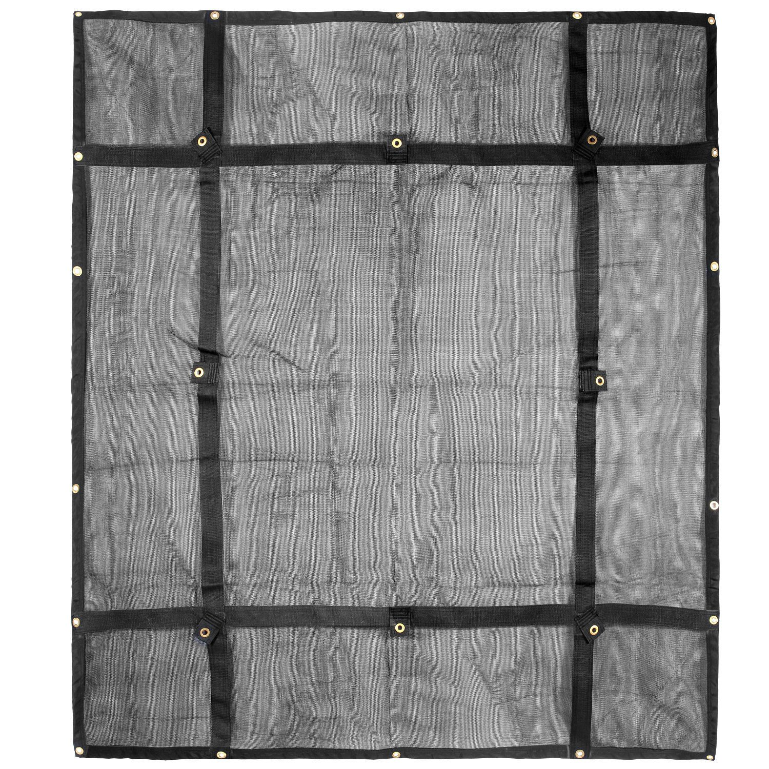 Truck Bed Cargo Net Organizer 6.75'x 8' | Heavy Duty Bungee Webbing, Adjustable & Rip Proof Mesh with Grommet Anchoring Points & Tarp