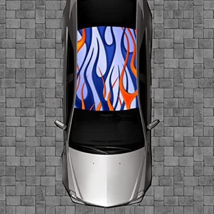 amazon com r35 fire flames tribal roof wrap decal decals wraps