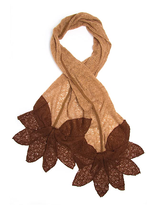 Vintage Scarves- New in the 1920s to 1960s Styles Bohomonde Norah Scarf Soft Lacy Crochet Petal Ends $28.95 AT vintagedancer.com