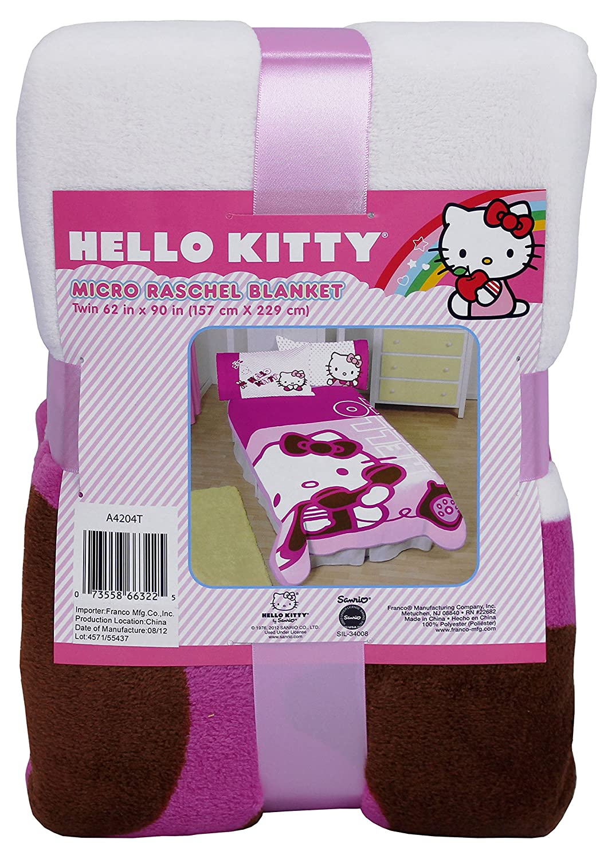 72ef3de66 Amazon.com: SANRIO Hello Kitty Twin Blanket Ring Ring Telephone Bedding  Cover: Home & Kitchen