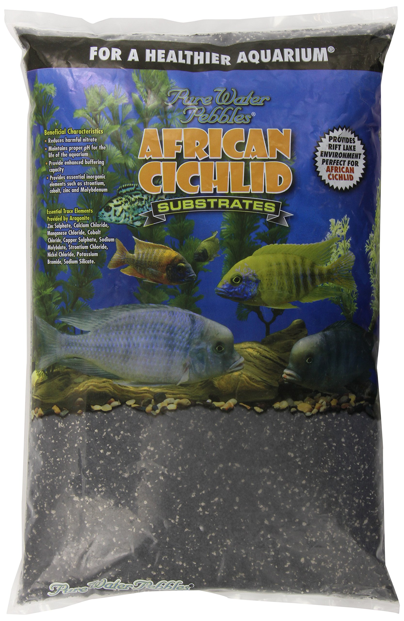 African Cichlid Substrates Rift Lake Sand for Aquarium, 20-Pound, Dry by African Cichlid Substrates