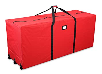 Primode Holiday Rolling Tree Storage Bag, Extra Large Heavy Duty Storage  Container, 25u0026quot;