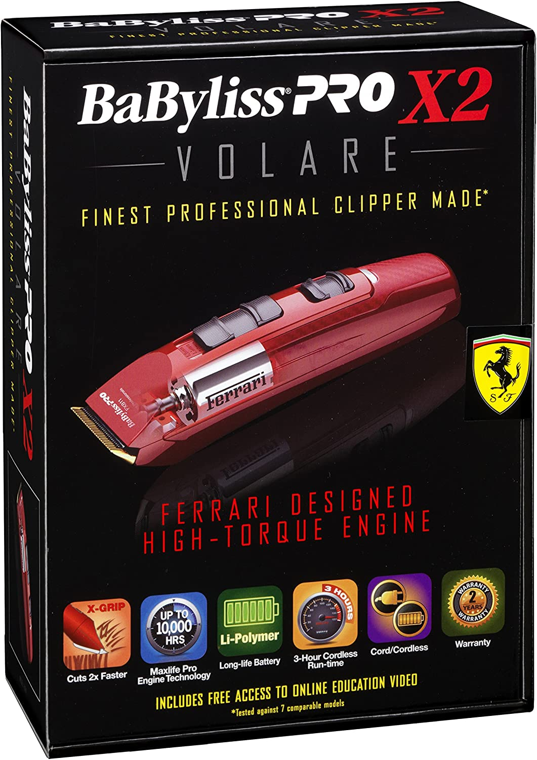 Babyliss Babyliss Pro Precision Stylist Tools Volare X2 Clipper Red Hair Trimmer Amazon De Drogerie Körperpflege