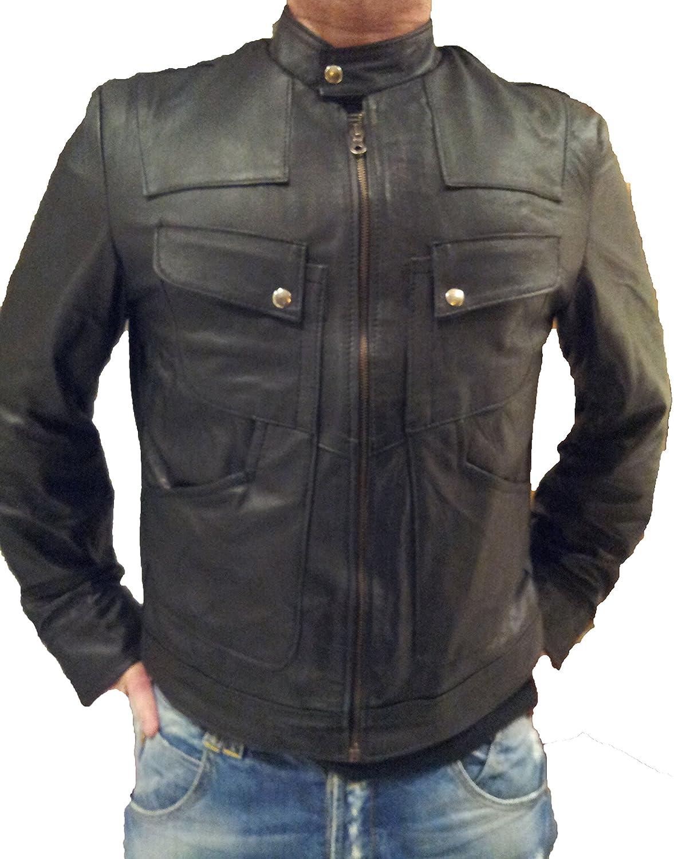leather jacket s m l xl xxl 3xl 4xl moto made in italy creazioniinpelle cr3