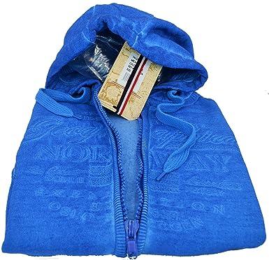 Sudadera Geographical Norway para hombre cremallera Men Fati Vintage Full Cardigan Blue Capucha turquesa L: Amazon.es: Ropa y accesorios
