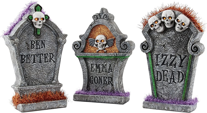 Dept 56 SV Halloween Tombstones Set of 6 #56.53065 BRAND NEW Free Shipping