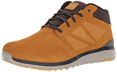 9f14916cf9 Salomon Men s Utility Chukka TS WR Hiking Shoe Rawhide  Leather Asphalt Titanium 7 M
