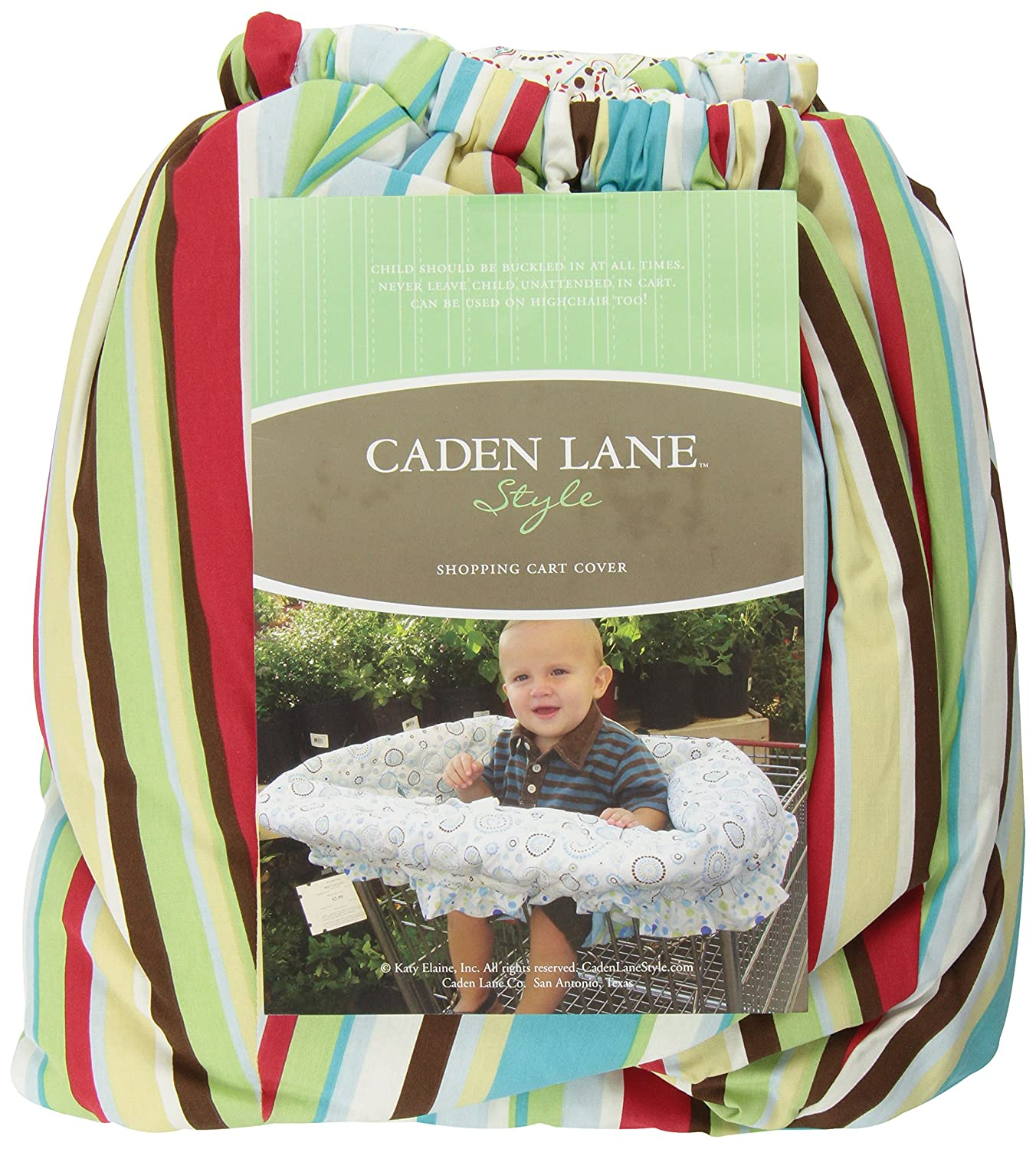 Caden Lane Circle Dot Shopping Cart Cover, Red, One Size 1RCDSCC