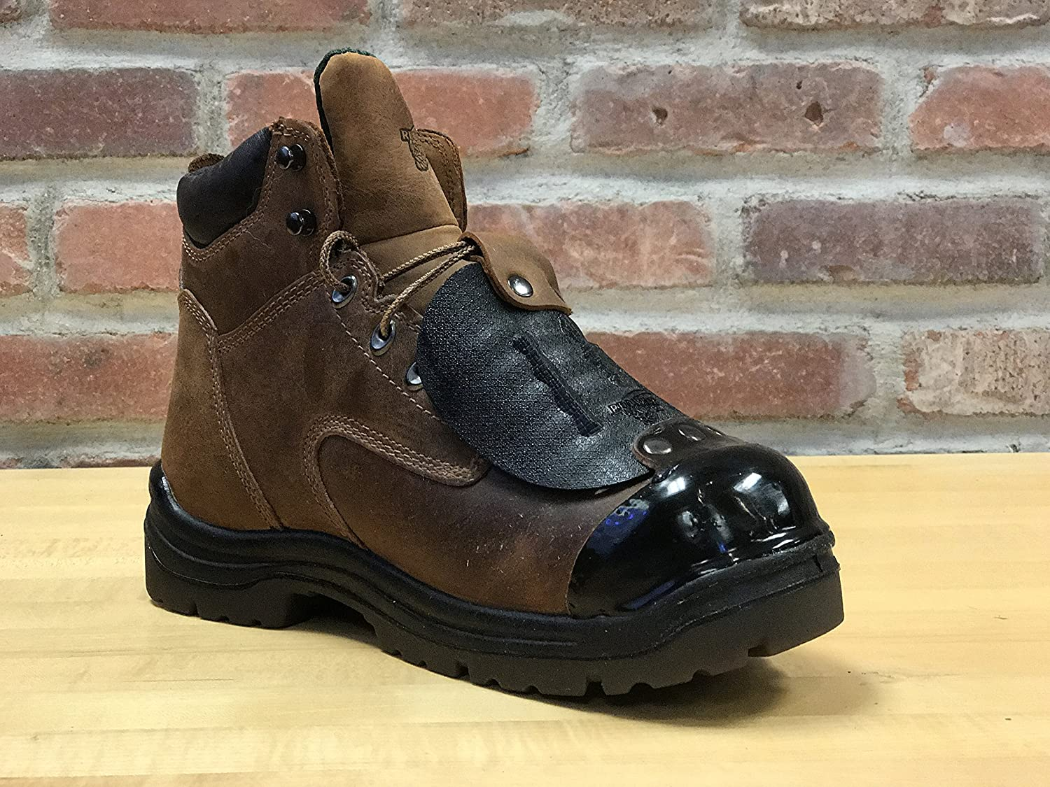 Black Tuff Toe Boot Guard Protection Repair For Steel Cut Engineer Iron Safety Boots Blue Leather Composite Heel Work Shoe Shoes