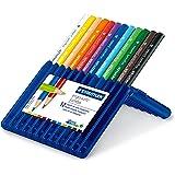 Staedtler ergosoft jumbo Buntstifte, erhöhte Bruchfestigkeit, dreikant, Set mit 12 brillanten Farben, 158 SB12