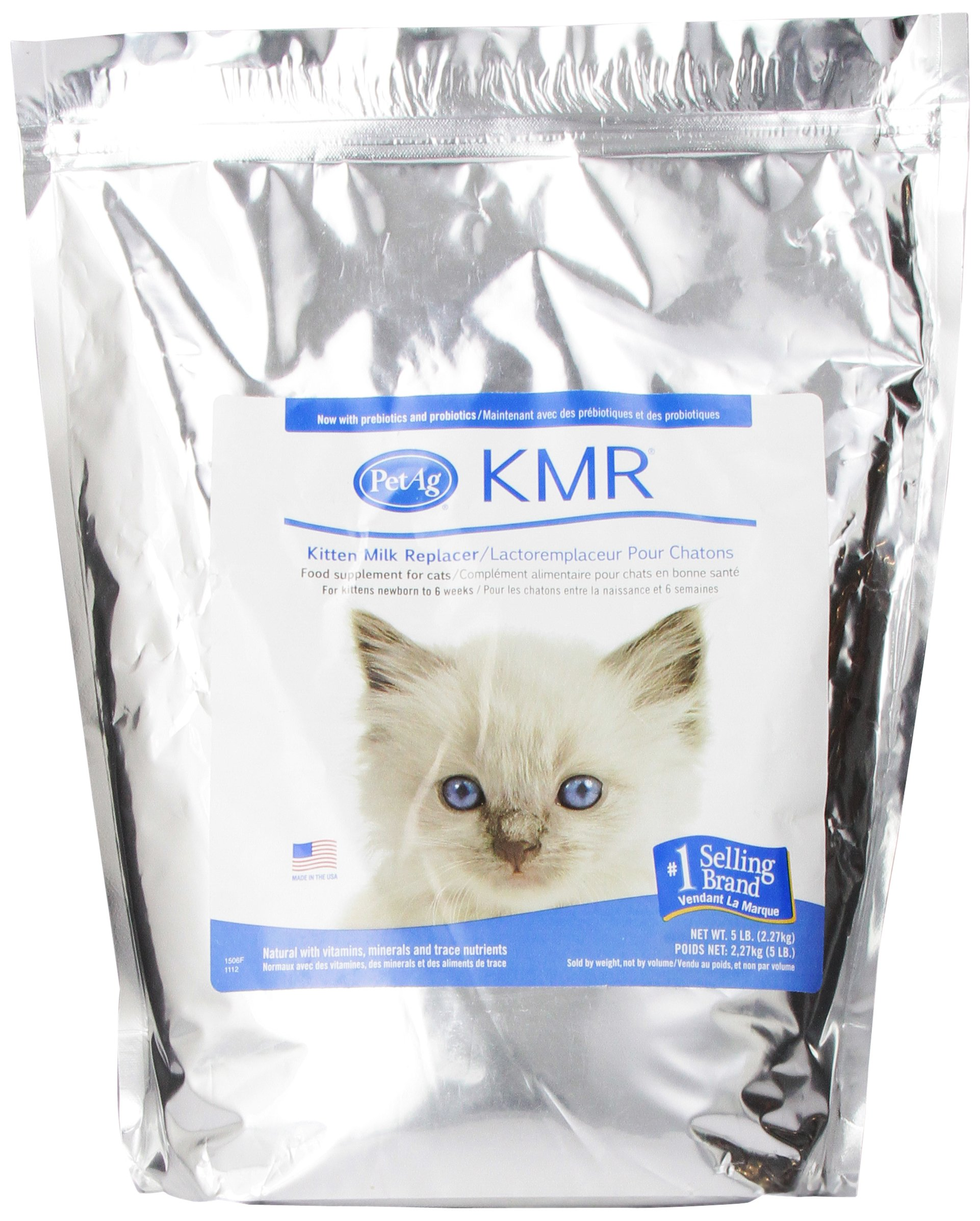 PetAg Kitten Milk Replacer (KMR) Powder Formula 5 Pounds by PetAg