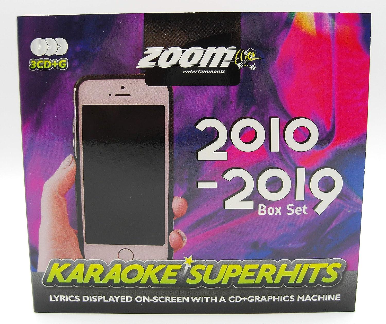 Zoom Karaoke CD+G - 2010-2019 Superhits - Triple CD+G Karaoke Pack: Zoom Karaoke: Amazon.es: Música