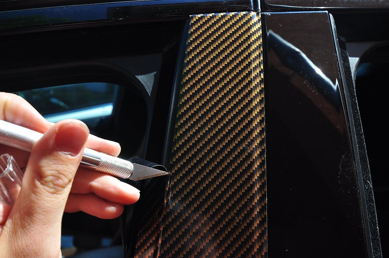 6x Carbon Rot T/ürzierleisten Verkleidung B S/äule T/ürs/äule passend f/ür Ihr Fahrzeug