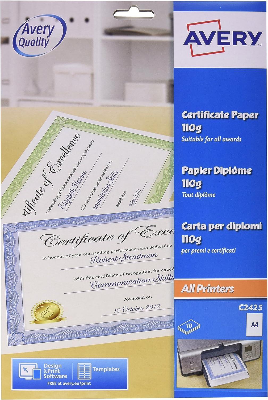 Pack of 20 210 x 297mm great for certificates Matt Gold Metallic Card