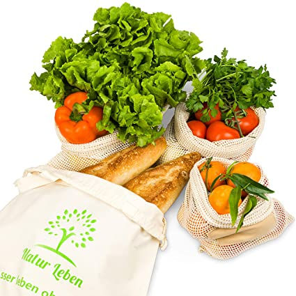 Natural Vida la Compra - Red Bolsas Reutilizables Verduras ...