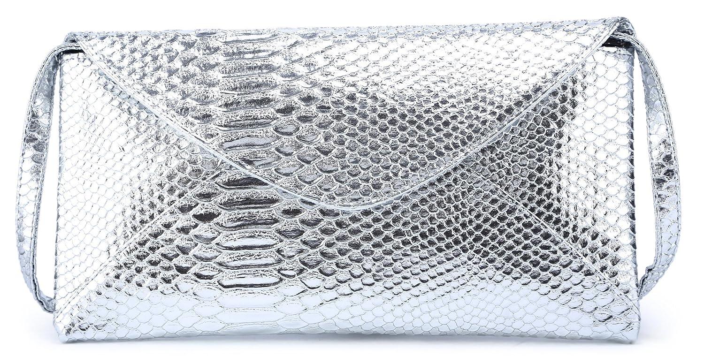 Scarleton Large Snake Envelope Clutch H3348