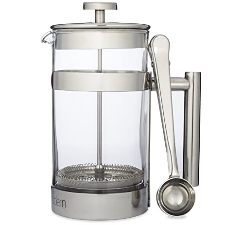 Simple Modern Home Collection French Press Coffee U0026 Tea Maker   1 Liter    Double Filter Design