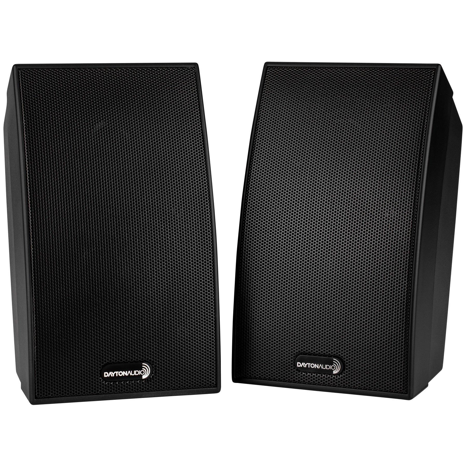 Dayton Audio SAT-BK Satellite Speaker Pair - Black by Dayton Audio