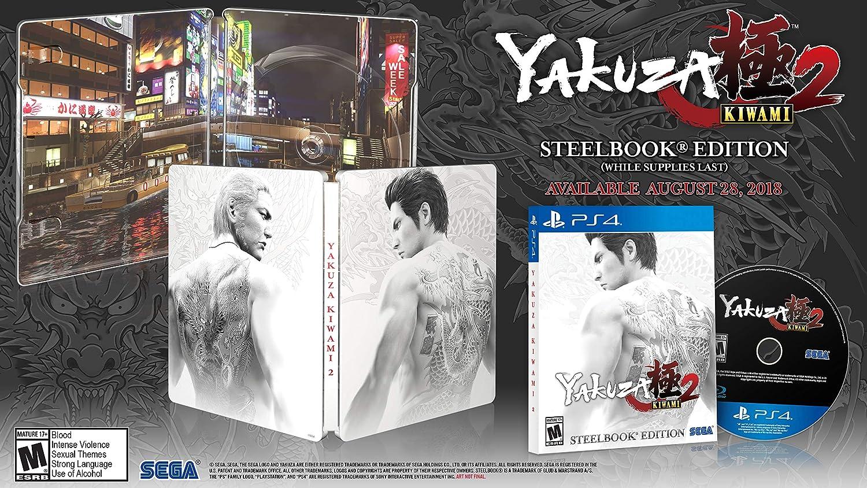 dd51ba4a9b7 Amazon.com: Yakuza Kiwami 2: SteelBook Edition - PlayStation 4: Sega of  America Inc: Video Games