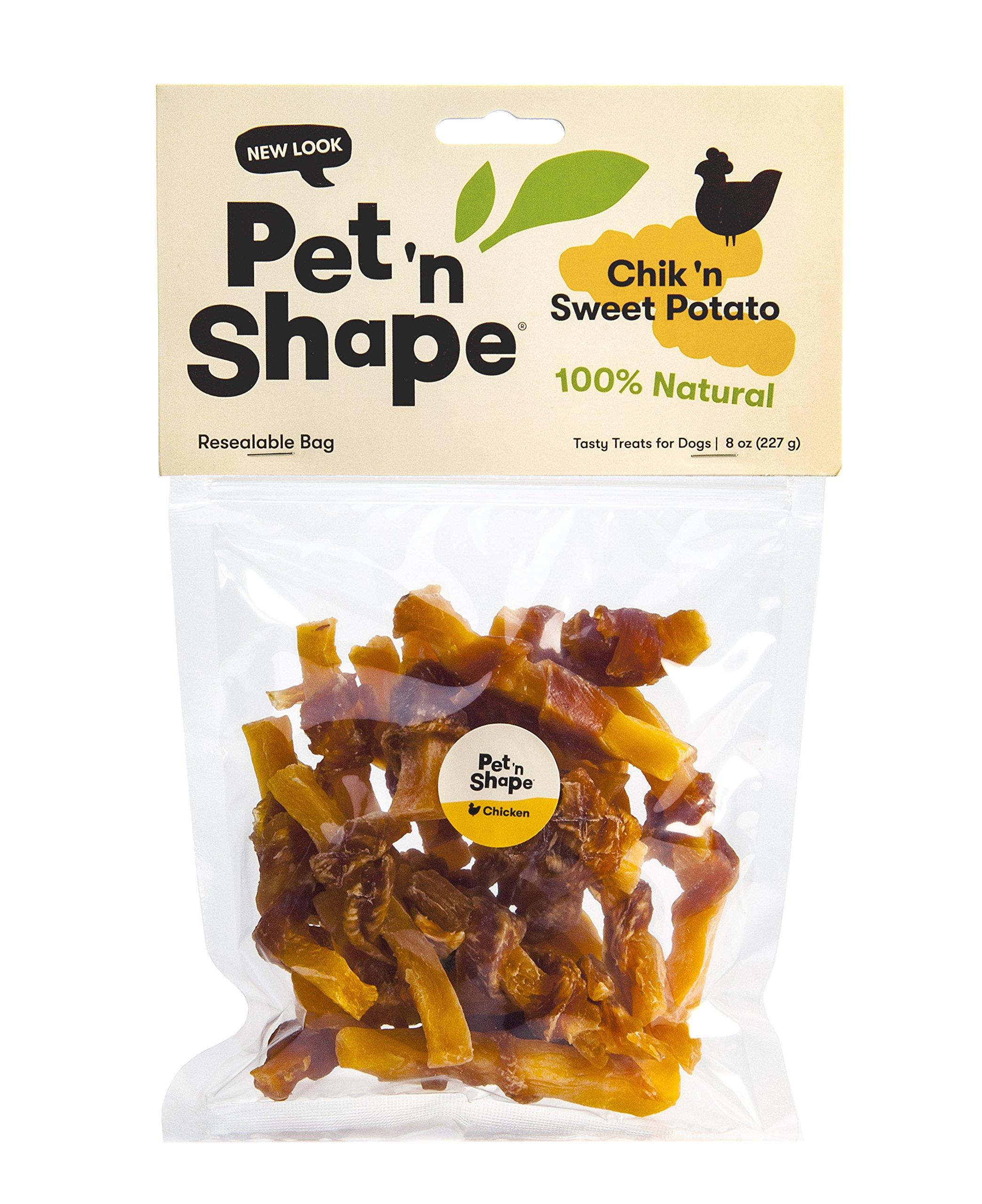Pet 'n Shape Chik 'N Sweet Potato - All Natural Dog Treats, Chicken, 8 oz