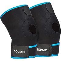 Amazon Brand - Solimo Patella Knee Support, Black/Blue