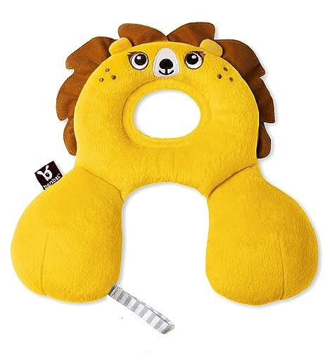 BenBat Amigos de Viaje 0-1 - Reductor y cojín cervical diseño león