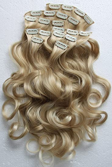 Amazon prettyshop xxl set 8 pcs 24 clip in hair extensions prettyshop xxl set 8 pcs 24quot clip in hair extensions full head hairpiece wavy curled pmusecretfo Image collections