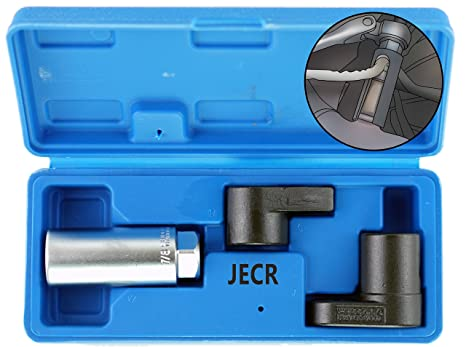 Oxygen Sensor Socket Remover Tool Set - 3 Piece Universal o2 Sockets Wrench  Tool Kit - 7/8, 1/2, and 3/8 Inch Drive for 02 Sensors – 1 Vacuum Switch