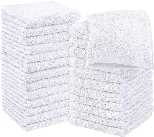 Utopia Towels - 24 Toallas para la Cara de algodón, Paños de ...