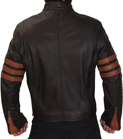 replica di quella indossata da Logan in X-Men Wolverine// XO. Giacca in vera pelle