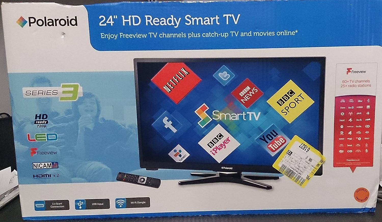 Polaroid 3 – 24 de LED de 14 Smart con retroiluminación LED TV, Black DVB-C/T (überprduktionen y vorführ Dispositivos): Amazon.es: Electrónica