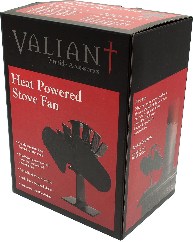 Amazon.com: Valiant FIR362 Ventum 2 Heat Powered Stove Fan, Satin Black: Home Improvement