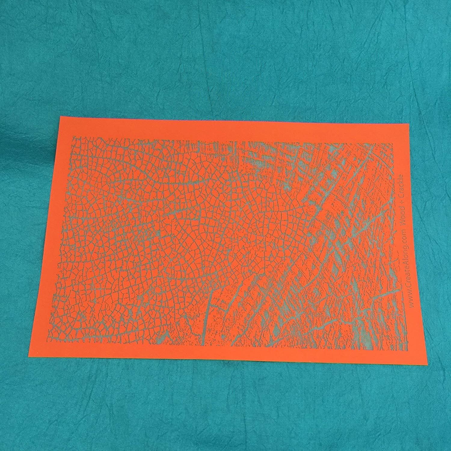 Silkscreen Stencil Wood Grain /& Crackle Large Pattern for Crafting and Polymer Clay