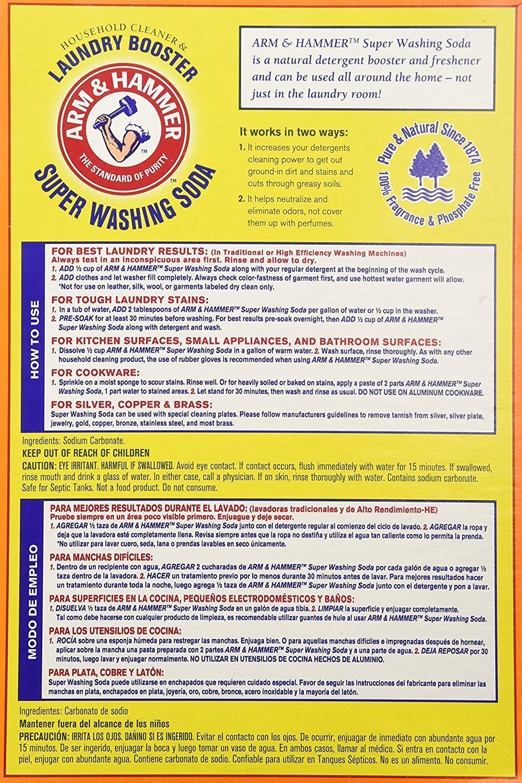Church & Dwight Co 03020 Arm & Hammer Super Washing Soda 55 Oz, (Pack of 2) by Arm & Hammer (Image #1)
