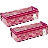 HomeStrap 2 Piece Fabric, Bangle Box, Small, Pink