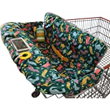 Shopping Cart Cover for Baby or Toddler | 2-in-1 High Chair Cover | Universal Fit for Boy or Girl | Includes Carry Bag…