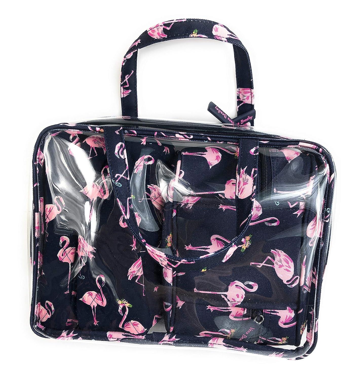 Vera Bradley 4 Piece Travel Cosmetic Organizer Flamingo Fiesta