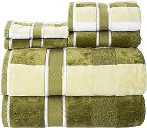 Lavish Home Green 100% Cotton Oakville Velour 6 Piece Towel Set