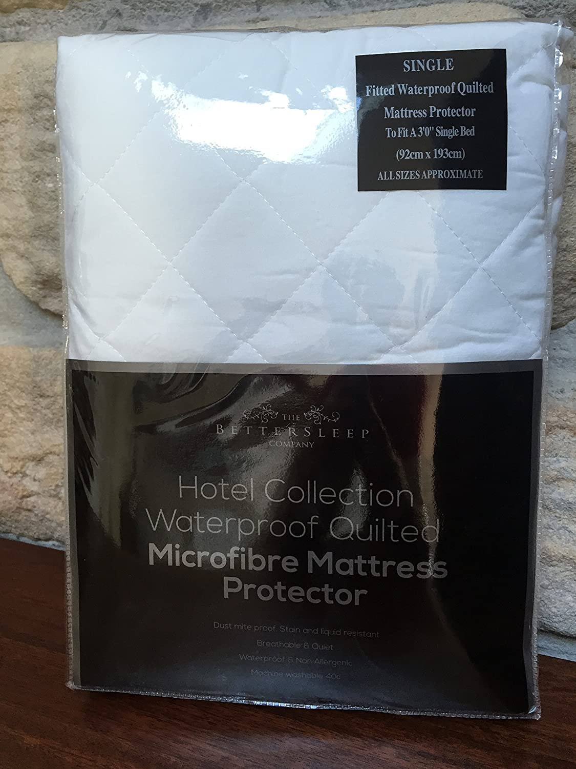The Bettersleep Company Brand Waterproof Quilted Microfibre Mattress  Protectors Single Bed- Hotel Quality Anti Dustmite