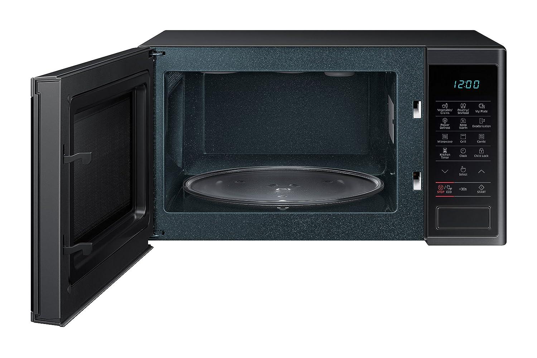 Samsung MG23J5133AG/EC - Horno-Microondas con grill, 23 litros, 800 W, interior Cerámica Enamel, color negro grafito: Amazon.es: Hogar